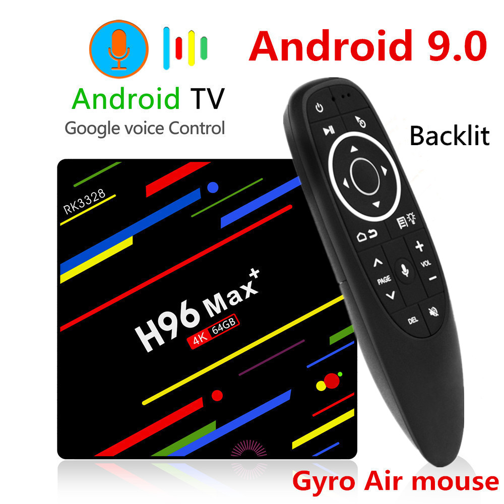 H96 MAX Plus TV BOX Android 9.0 4GB RAM 32GB 64GB ROM RK3328 Set Top Box 5G Wifi 4K smart Media Player pro PK X96 RK3318 HK1(China)