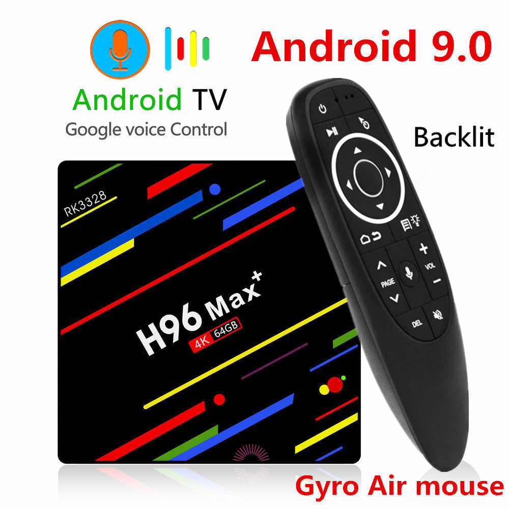 H96 MAX Plus TV BOX Android 9.0 4GB RAM 32GB 64GB ROM RK3328 décodeur 5G Wifi 4K lecteur multimédia intelligent pro PK X96 RK3318 HK1