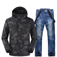 Ski Suit Men Pelliot Ski Jacket + Saenshing Snowboard Pants Breathable Skiing Snowboarding Winter Snow Set Super Warm Waterproof недорого