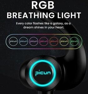 Image 2 - Picun H26Xワイヤレスbluetoothイヤホン防水スポーツヘッドセットネックバンドのステレオイヤホンrgb ledライト携帯電話