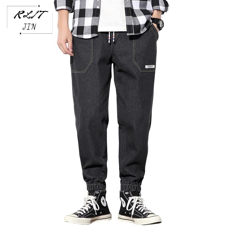 RLJT.JIN Trend Direction 2019 Hot Japanese Harajuku Baggy Jeans Mens High Street Fashion Jogger Slacks Casual Pants
