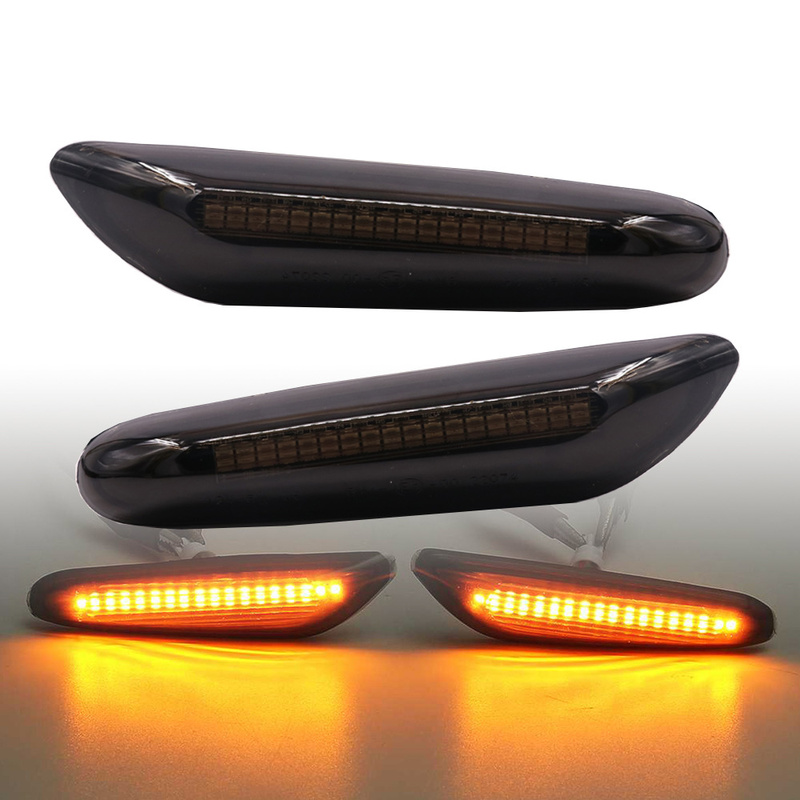 1Pair Car Turn Signal Lights LED Turn Indicator Blinker Lamp Side Marker Smoke Light for Bmw BMW E46 E60 E61 E87 E90 E91 E92 E93 image