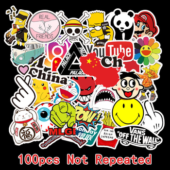 100Pcs Custom Stickers Cartoon Sticker Cute Label Laptop Bomb Girls 50Pcs Scrapbooking