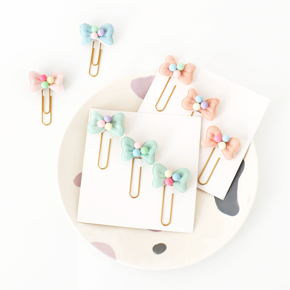 TUTU 3PCS Creative Handmade Metal Office School Paper Clips Stationery Supplies Fine Cute Memo Organzier Clips Bookmark H0365