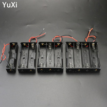 цена на 1x 2x 3x 4x 18650 Battery Storage Box Case 1 - 4 Slot Way DIY Batteries Clip Holder Container Battery Compartment With Wire Lead
