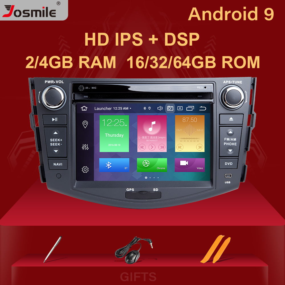 DSP 4GB 2din Android 9.0 Car Radio DVD Player For Toyota RAV4 <font><b>Rav</b></font> <font><b>4</b></font> 2006 2007 2008 2009 2010 <font><b>2011</b></font> 2012 Multimedia GPS Navigation image