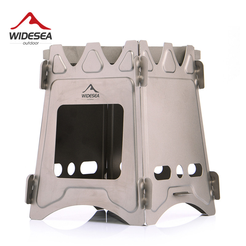 Widesea Camping Wood Stove Portable Titanium Burner Backpack Alcohol Burner Tourist Cooker Outdoor Survival Trekking Hiking