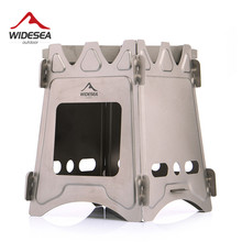 Buy Widesea Camping Wood Stove Portable Titanium Burner Backpack Alcohol Burner Tourist Cooker Outdoor Survival Trekking Hiking directly from merchant!