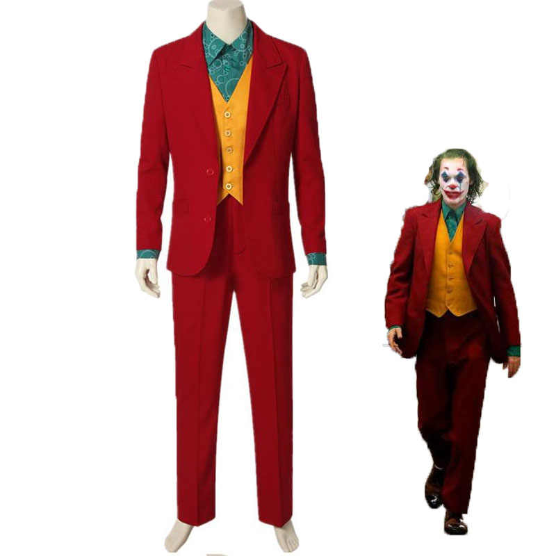 Cosplay 2019 Movie Joker Joaquin Phoenix Arthur Fleck Kostuum Suits Halloween Masker voor vrouw man kids