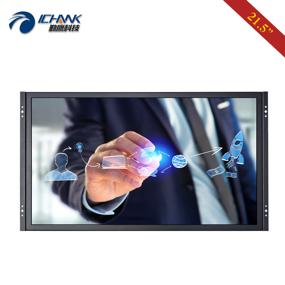 """ZK215TC 59R/21.5"""" inch 1920x1080 16:9 Widescreen HDMI USB VGA Metal Case Embedded Open Frame Touch LCD Screen PC Monitor Display LCD Monitors Computer & Office - title="""