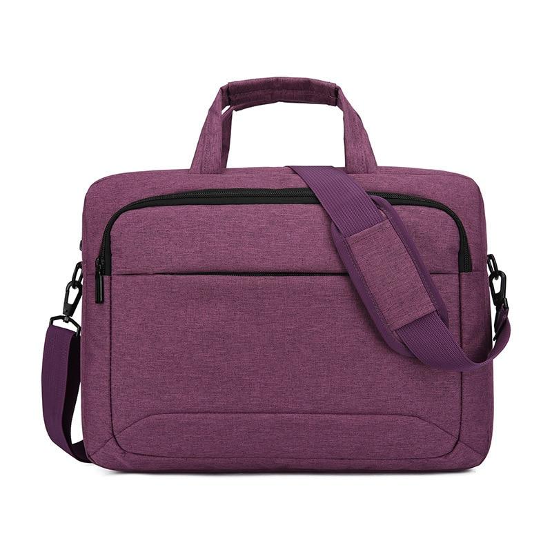 Nylon Men Women Briefcase Laptop Bag 13 14 Inch Purple Black Gray Portable Travel Waterproof Should Handbag