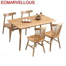 Eettafel Set Piknik Masa Sandalye Marmol Redonda Tavolo Yemek Masasi Retro Wood Bureau Mesa Comedor Tablo Desk Dining Table