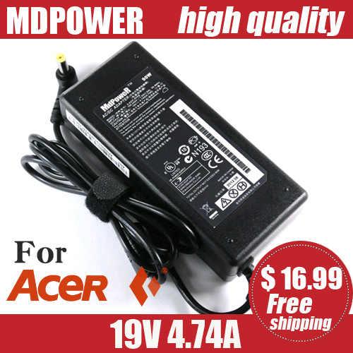 MDPOWER do projektora ACER eMachines E442eMD525 eMD725 zasilacz laptopa adapter zasilacza AC przewód ładowarki 19V 4.74A
