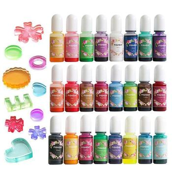 24 Colors Resin Pigment Dyeing Colorant For DIY Crafts Jewelry 14/19/24pcs Pigment Random Accessories Color Multicolor Addi T6G3 image