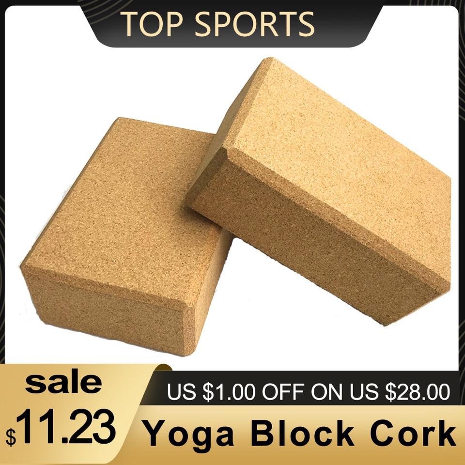 Yoga Block Cork Sport Home Exercise Wood Yoga Brick Soft High Density Block To Support Poses Indoor Sport Yoga Blocks Aliexpress