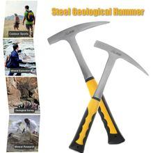 Aço carbono geological martelo choque rock redução geologia ferramenta de educação ao ar livre exploração mineral martelo ferramentas manuais