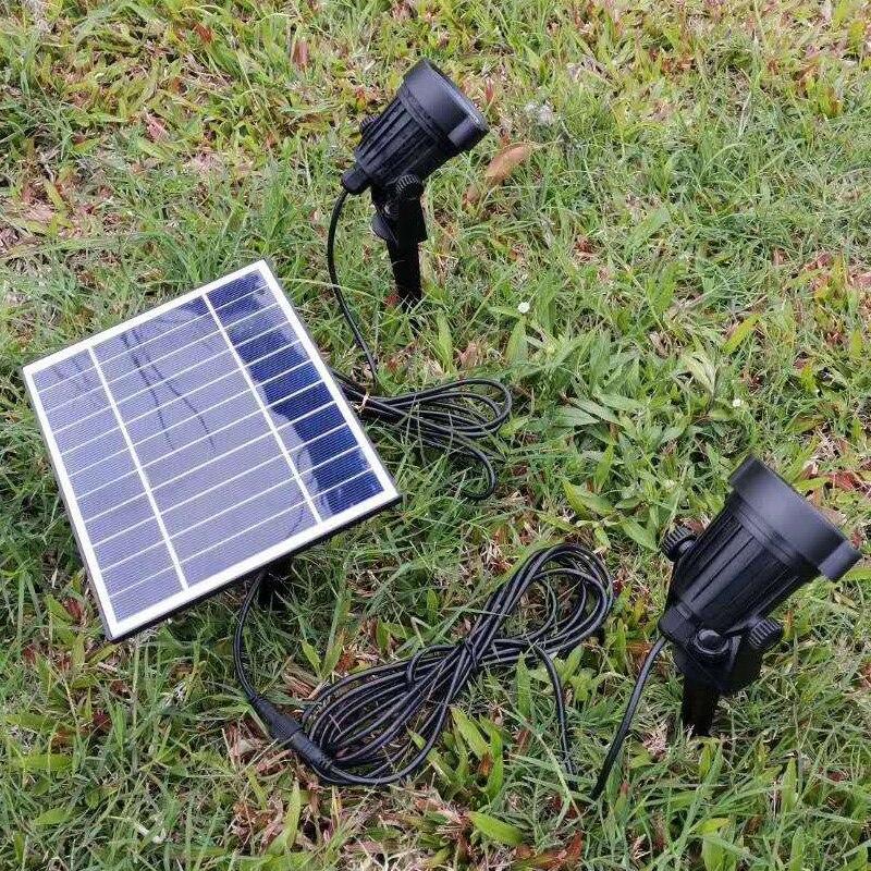 Светодиодный ландшафтный светильник на солнечной батарее, водонепроницаемый Уличный настенный светильник с автоматическим включением/вы...