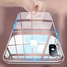 Жесткий прозрачный чехол для телефона из поликарбоната для iPhone XR XS 11 Pro Max чехол X 6 6S 7 8 Plus ультратонкий прозрачный пластиковый защитный чехол s Чехол