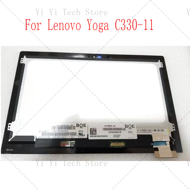 11.6 LCD Touch Screen Assembly For Lenovo Yoga C330-11 Touch Digitizer Assembly 2LGT204000012