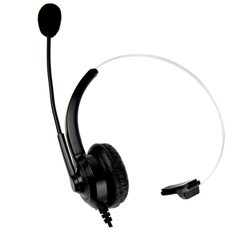 Monaural Telephone Headset Call Center Operator Monaural Headphone Customer Service Landline Voice Call Chat Headset Earphone Earphones Headphones Aliexpress