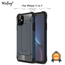 For iPhone 11 Case Luxury Shockproof Armor Rubber Silicone Hard PC Phone Bumper Back Cover 2019 6.1