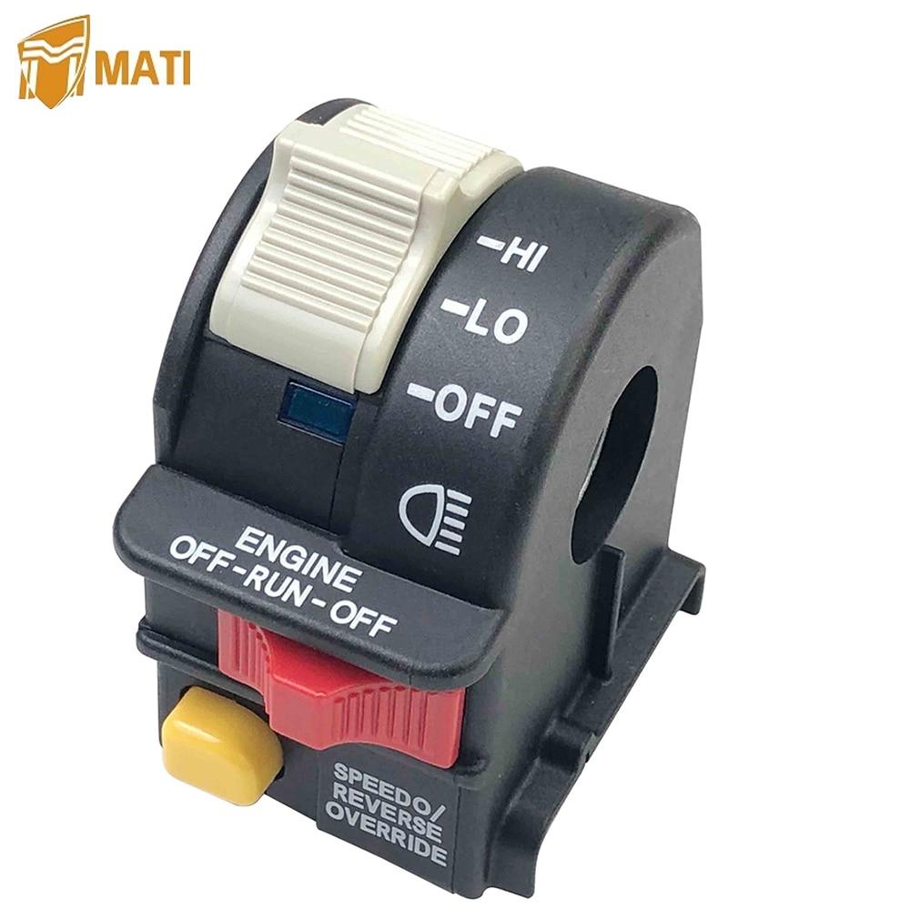 Controle para guidão interruptor de luz, interruptores de parada para polaris sportsman 400 500 600 700 magno 800 325 330 atp 500 scrambler 500