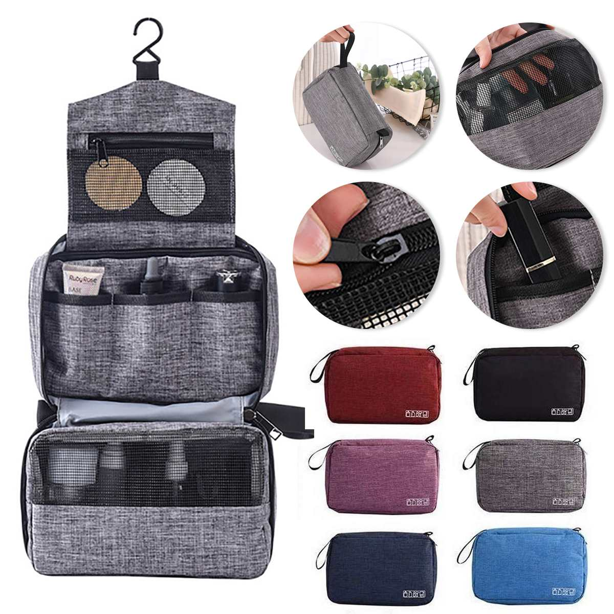 Waterproof Multifunction Hanging Travel Toiletry Bag For Men And Women Makeup Bag Bathroom And Shower Organizer Toilettas