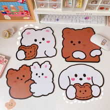 Cartoon Cute Mouse Pad Waterproof Small Mousepad Kawaii Pad for Mouse Mice Cup Mat Antislip for Desk Pc Laptops for Office Home