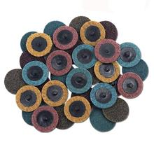 30PCS 2 inch Roloc Disc Mixed Pack(Coarse/Medium/Fine), Quick-Change Surface Conditioning Discs - for Die Grinder Surface Prep S