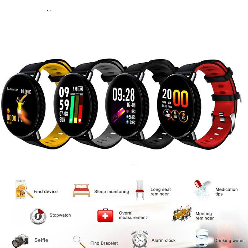 New Men Smart Watch Waterproof Bracelet Pedometer Heart Rate Monitor Message Vibration Multi Men Women Sport Fitness Smartwatch