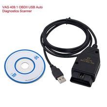 Obd2 usb VAG-COM 409.1 vag com 409com vag 409 kkl cabo diagnóstico scanner ferramenta de varredura interface para vcds vw audi seat volkswagen