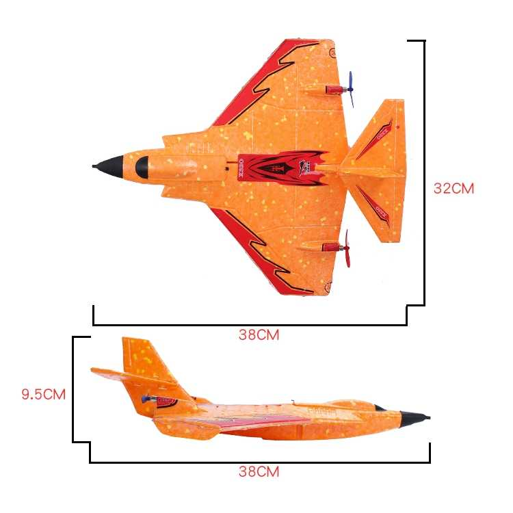 Mini X320 320mm Wingspan EPP Mini Avión RC RTF 2,4 Ghz GYRO J11 Avión de parque con batería LED de control remoto