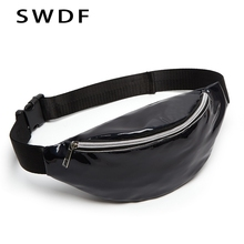 SWDF New Designer Women Fanny Pack Female Banana Belt Bag  Holographic Waist Packs Laser Chest Phone Pouch Purse Crossbody