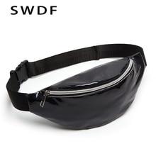 купить SWDF New Designer Women Fanny Pack Female Banana Belt Bag  Holographic Waist Packs Laser Chest Phone Pouch Purse Crossbody Bag по цене 311.98 рублей