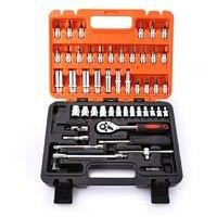 53pcs1/4 Zoll Stick Buchse Set  53pcs1/4 Zoll Auto Reparatur Werkzeug Ratsche Drive Buchse Set Steckschlüssel Set-in Tretlager aus Sport und Unterhaltung bei
