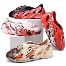 Men Sandals Shoes Man Summer 2021 Flip Flops Rubber Slippers Kanye Beach Garden Clogs Thongs Stamp Men Shoes Dropshipping USA