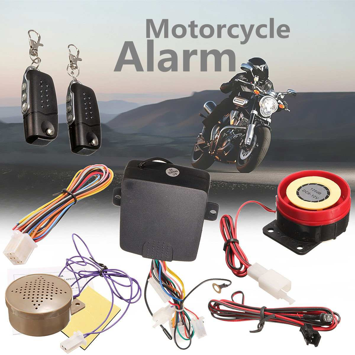 12v 125db Motorcycle Theft Protection Motorcycle Motor Bike Security Alarm System With Remote Control For Motorcycle Motorbike