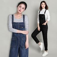 2019 Plus Size Jeans Jumpsuits Women's Denim Korean Jumpsuits Trousers Women's Bib Pants Rompers Womens Jumpsuit S 6XL