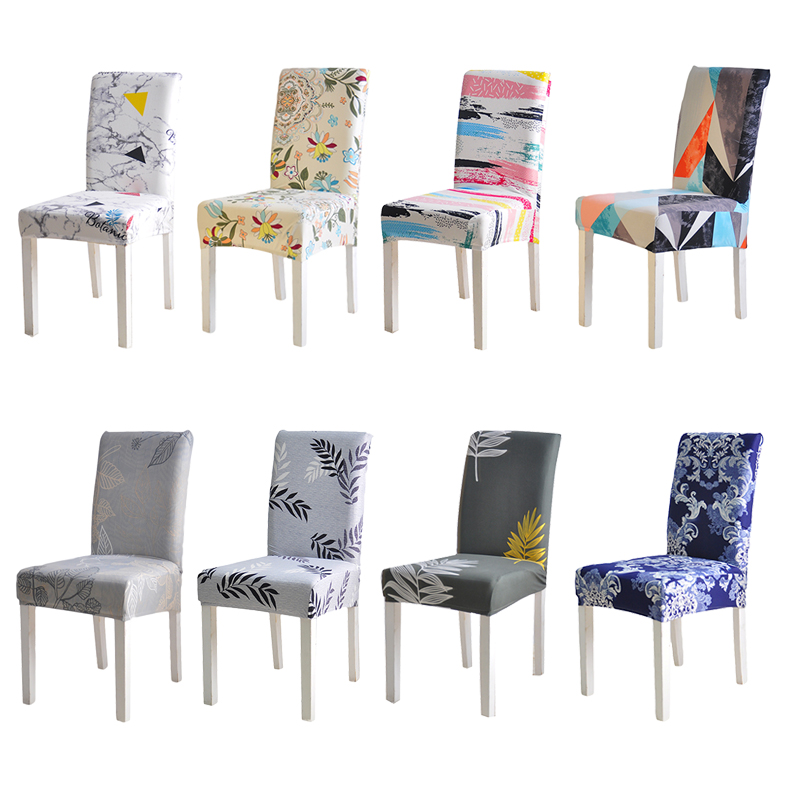 Chair Cover Spandex Kitchen Slipcover Removable Anti-dirty Seat Cover for Banquet Wedding Dinner Restaurant housse de chaise 1PC