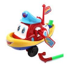Детская игрушка-тележка для ребенка игрушки однополюсный детский толкающий музыкальный колокольчик Cart лет 364-Ручная нажимная лодка