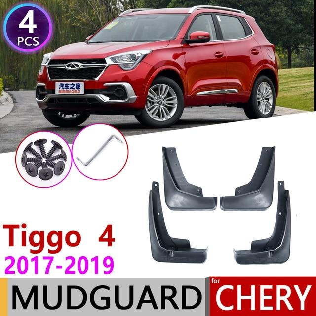4PCS Front Rear Car Mudguards for Chery Tiggo4 Tiggo 4 5X 2017 2018 2019 Mudflap Fender Mud Flaps Guard Splash Flap Accessories
