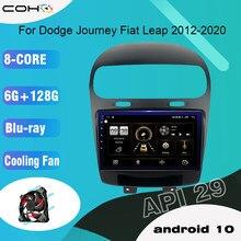 Android 10.0 octa core 6 + 128g navegação gps carro multimídia player rádio ventilador de refrigeração para dodge journey fiat leap 2012-2020