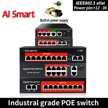 POE switch 48V with 8 100Mbps Ports IEEE 802.3 af/at ethernet switch Suitable for IP camera/Wireless AP/POE camera 1