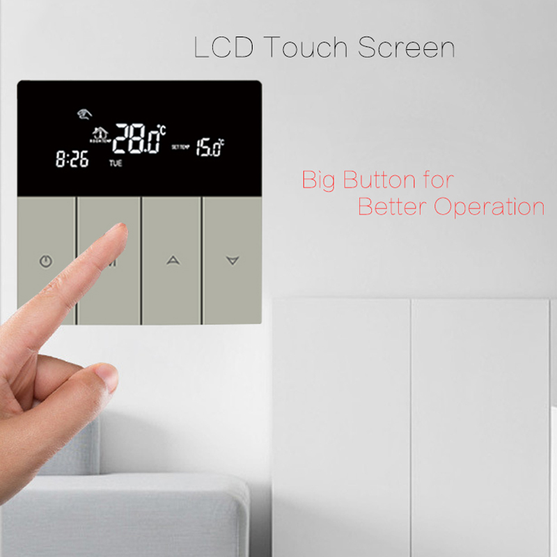 BEOK Thermostats LCD Touch Screen Temperature Controller Regulator Programmable Smart Thermostat Floor Heating Electric Heater