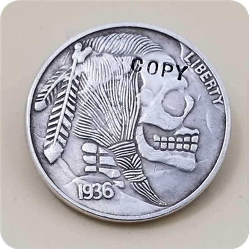 Hobo Nikkel Coin_Type # 19_1936-S BUFFALO NICKEL COIN