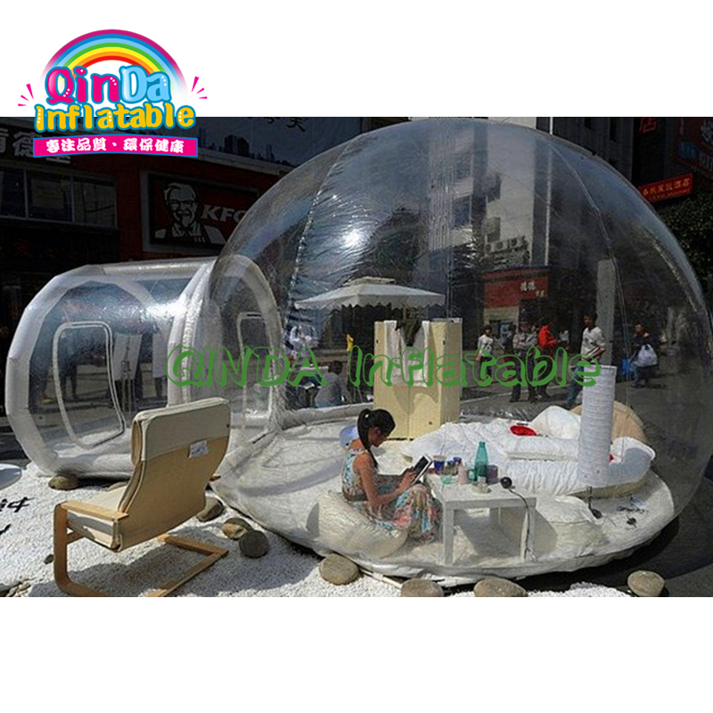 Visual Or Non-visual Clear Cabin House Camping Transparent Igloo Dome Clear Bubble Inflatable Tent Lodge Balloon