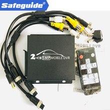 소형 hd 1080 p 2 채널 sd dvr cvbs 및 ahd 5.0mp 지원 원격 제어