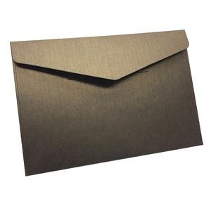 Image 2 - 40 יח\אריזה מערבי מעטפות בציר 250gsm פרל נייר עסקים, חתונה, מסיבה, Anniversity מעטפות 193mmX133mm