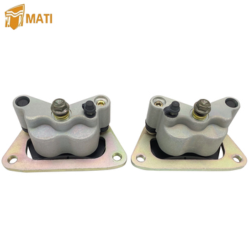 Mati Left Right Front Brake Caliper Assembly for Polaris Outlaw 450 MXR 525 S IRS RZR 570 800 RZR S 570 EPS 800 EFI with Pads left right with pads trim front brake caliper set tool useful atv mounting accessories metal auto car for yamaha banshee bear