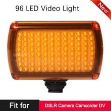 Na aparacie 96 LED Photo Video Fill Light lampa panelowa do aparatu Canon Nikon Sony DSLR kamera DV fotografia ślubna oświetlenie